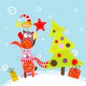 Christmas,Owl,Greeting Card...