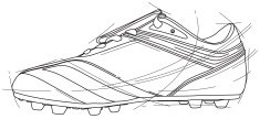 Soccer Shoe,Blueprint,Shoe...