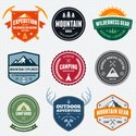 Mountain,Badge,Camping,Summ...