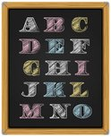 Blackboard,Alphabet,Text,Ch...