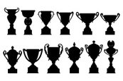 Trophy,Silhouette,Cup,Winni...