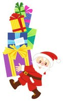 Stack,Toy,Gift,Santa Claus,...