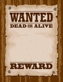 Wanted Poster,Wild West,Pos...