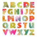 Alphabet,Text,Pattern,Retro...