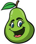 Pear,Vector,Characters,Gree...