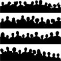 Silhouette,Audience,Human H...
