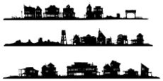 Wild West,Town,Silhouette,O...