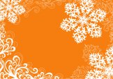 Snowflake,Winter,Orange Col...