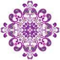 Paisley,Purple,Frame,Pink C...