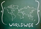 World Map,Blackboard,China ...