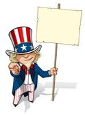 Uncle Sam,Sign,USA,The Amer...
