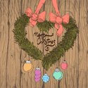Bow,Wreath,Wood - Material,...