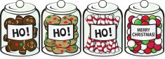 Christmas,Candy,Jar,Gingerb...