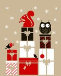 Christmas,Owl,Shopping,Squi...