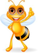 Honey Bee,Mascot,Cartoon,Cu...