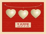 Hanging,Sign,Heart Shape,Wh...