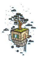 Tree House,Ilustration,latt...