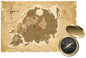 Treasure Map,Marine Compass...