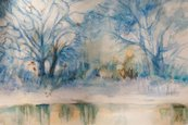 Watercolor Painting,Winter,...