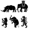 Coat Of Arms,Rhinoceros,Tig...