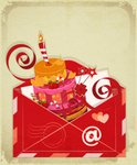 Old-fashioned,Mail,Birthday...