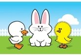 Easter,Group Of Animals,Flu...