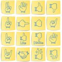 Adhesive Note,Thumbs Down,S...