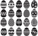Easter,Vector,Black Color,S...