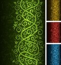 Backgrounds,Swirl,Green Col...