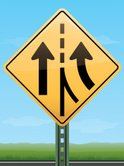 Merging Sign,Road Intersect...