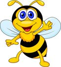Honey Bee,Bee,Cartoon,House...
