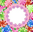 Candy,Greeting Card,Pink Co...