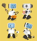 Robot,Electricity,Cheerful,...