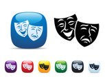 Theater Mask,Comedy Mask,Th...