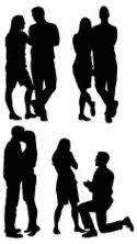 Silhouette,Couple,Vector,Ki...