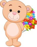Teddy Bear,Flower,Smiling,C...