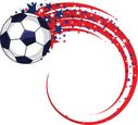 American Flag,Soccer Ball,S...