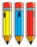 Clip Art,Number 2 Pencil,I...