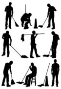 Cleaning,Caretaker,Silhouette…