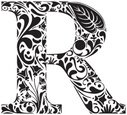 Letter R,Sign,Nature,Swirl...