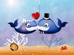 Animated Cartoon,Fish,Two A...