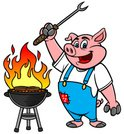 Pig,Barbecue Grill,Barbecue...