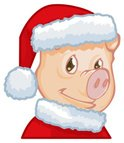 Pig,Christmas,Cute,Objects/...