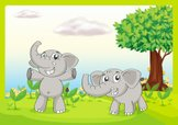 Elephant,Tree,Growth,Leaf,A...
