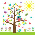 Tree,Owl,Cute,Vector,Single...
