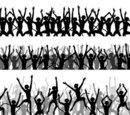 Crowd,Cheering,Silhouette,O...