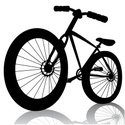 Silhouette,Bicycle,Ilustrat...
