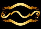 Gold Colored,Vector,Curled ...