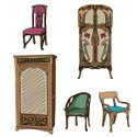 Furniture,Art Nouveau,Compute…