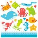 Sea Life,Eel,Sea,Cartoon,Cu...